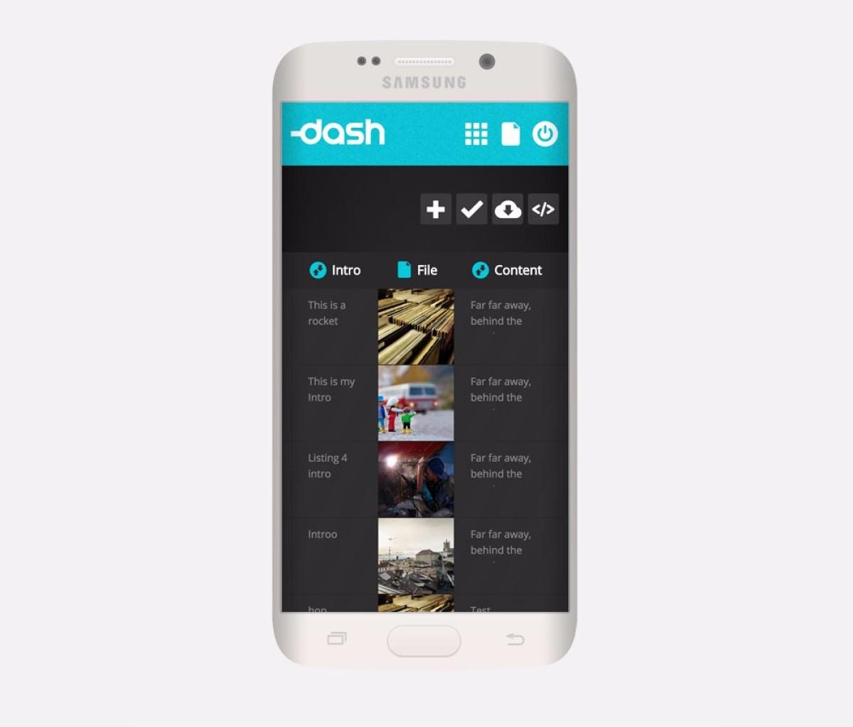 Dash on a Mobile